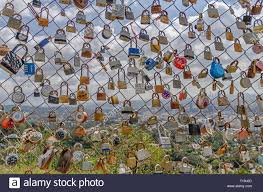 Locks On Chain Link Fence High Resolution Stock Photography And Images Alamy