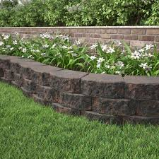 red charcoal retaining wall block