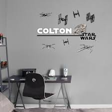 Star Wars Boys Bedroom Personalize Your Wall Decal Today Follow Us On Pinterest For All Of Your Home Decor Needs Star Wars Bedroom Removable Wall Decals Wall Decals