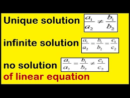 unique solution infinite solution no