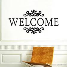 Welcome Sign Wall Stickers Hallway Vinyl Wall Decals Bedroom Home Decoration Accessories For Living Room Classroom Decor Airplane Wall Stickers All Wall Stickers From Joystickers 10 76 Dhgate Com