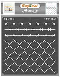 Craftreat Pattern Design Stencils For Painting Craft Wire Fence 6x6 Inches Reusable Diy Stencils Of Chain Link Fencing Net Scenery Stencils For Craft Painting Amazon In Home Kitchen