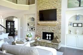 summer home showcase white built ins