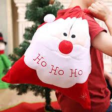 Lớn Giáng Sinh Santa Dây Thêu Kẹo Bánh Quy Giá Đỡ Túi Lưu Trữ Tặng Túi Đựng  Vật Dụng 