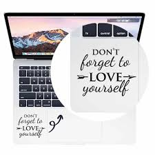 Love Yourself Trackpad Quote Laptop Decal For Apple Macbook Pro Air Retina 11 12 13 15 Inch Vinyl Mac Book Touchpad Skin Sticker Laptop Skins Aliexpress