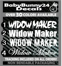 Widow Maker 22 Inch Vertical Windshield Vinyl Decal Sticker Car Truck Van Side Ebay