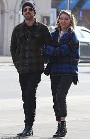 Aaron Paul and wife Lauren Parsekian put on romantic display as they take  stroll after lunch in NYC   Daily Mail Online