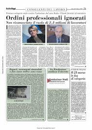 Consulenti del Lavoro - Italia Oggi del 24 marzo 2020