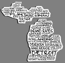 Cities Of Michigan Vinyl Car Decal Sticker Free Shipping Car Decals Michigan Decal Car Decals Vinyl