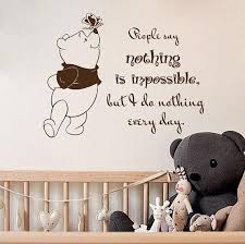 Wall Decal Quotes People Say Nothing Is Impossible Winnie The Pooh Vin Ellaseal