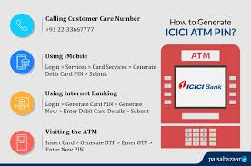 how to generate icici debit card pin