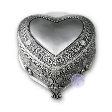 tin alloy heart shape box
