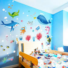 colorful fish shark ocean wall stickers