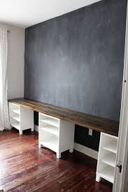 Option For Kids Area With Trofasts Underneath Instead Diy 12 Foot Long Double Desk Icing On The Cake Blog Home Home Decor Homework Room