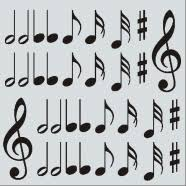 Music Wall Decals Music Note Symbols The Simple Stencil