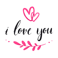i love you typography vector free vector