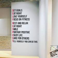 Pin By Pranali Bandekar On Life Hacks Gym Wall Decal Gym Design Workout Rooms