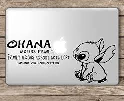 Decals Stickers Vinyl Art Stitch Ohana Means Family Apple Macbook Laptop Vinyl Decal Sticker Home Garden Decals Stickers Vinyl Art Home Decor