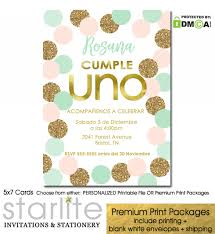 Invitacion Primer Cumpleanos Nina Girl 1st Birthday Invites