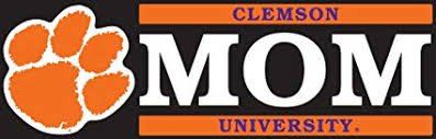 Amazon Com Clemson Tigers 6 Mom Logo Auto Vinyl Decal Sports Outdoors