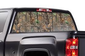 Gmc Sierra Rear Window Decals Winter Camo Racerx Customs Truck Graphics Grilles And Accessories