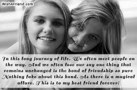 in this long journey of life best friend quote