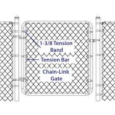 Yardlink Gray Metal Fence Tension Band Chain Link Fence In The Fence Hardware Department At Lowes Com