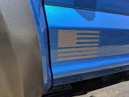 American Flag Side Decals Rocky Mountain Graphics