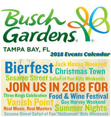 busch gardens tampa bay 2018 events