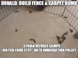 Immigration Plan Build Fence Carpet Bomb Meme Generator Imgflip Carpet Bombing Career Schools Faux News