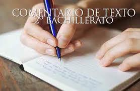 Comentario de Texto 2º Bachillerato | Colegio Internacional J. H. ...
