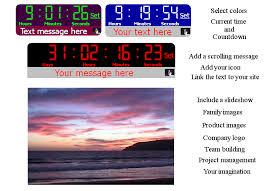 countdown clock screensaver