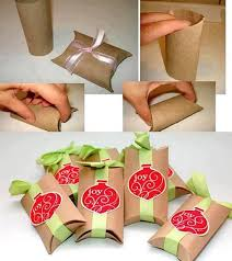 gift box with paper towel roll crafts