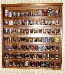 shot glass curio cabinets shot glass