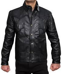 shirt style mens shiny leather jacket