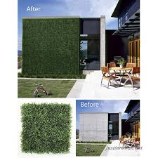 Uland Artificial Boxwood Topiary Hedge Plant Sound Diffuser Privacy Fence Screen Greenery Wall For Both Outdoor
