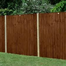 Forest 6 X 5 Pressure Treated Featheredge Fence Panel Dark Brown 1 83m X 1 54m Buy Sheds Direct