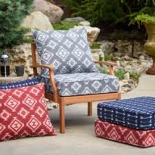 outdoor aztec pattern deep seating seat