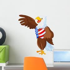 Patriotic American Eagle Wall Decal Wallmonkeys Com