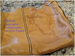 remove water stains from leather purse