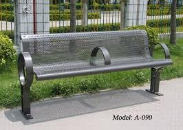durable metal park bench metal outdoor