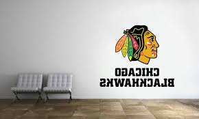 Chicago Blackhawks Logo Wall Decal Nhl Hockey Decor
