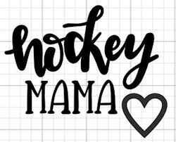 Hockey Mama Decal Car Decal Laptop Decal Window Decal Etsy