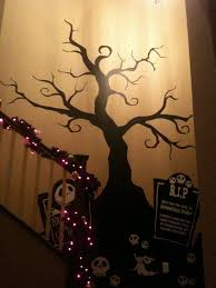 Halloween Creepy Tree Wall Decal Nightmare Before Christmas Nightmare Before Christmas Tree Nightmare Before Christmas Halloween Decals