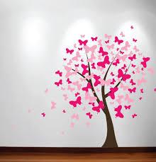 Amazon Com Innovative Stencils Butterfly Nursery Tree Wall Decal Blossom Girls Room 1140 6 Feet Tall Home Kitchen