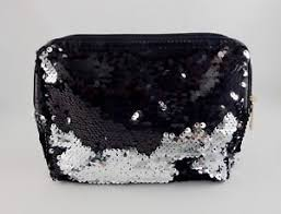 sequin cosmetic bag zipper top mermaid
