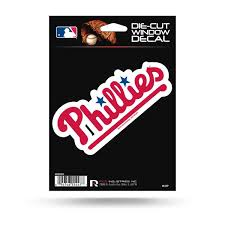 Rico Mlb Philadelphia Phillies Die Cut Auto Decal Car Sticker Medium V Sportzzone