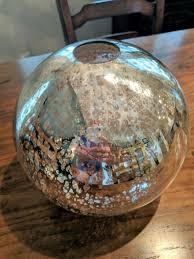 mercury glass globe shade pendant