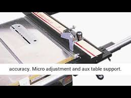 Vega Pro 50 Table Saw Fence System 42 Inch Fence Bar 50 Inch To Right Review Youtube