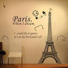 Pin By Maggie Biddle On Bonjour Wall Stickers Eiffel Tower Paris Room Decor Paris Wallpaper